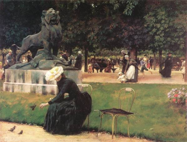 Courtney In the Luxembourg Garden 1889